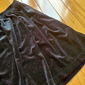 CAT & JACK velvet sparkly black skirt